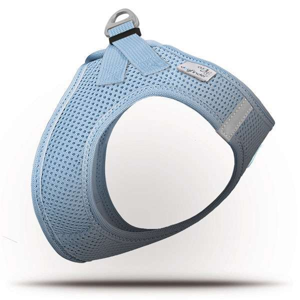 Curli Step In Geschirr Air Mesh - Skyblue inklusiv Dogfinder