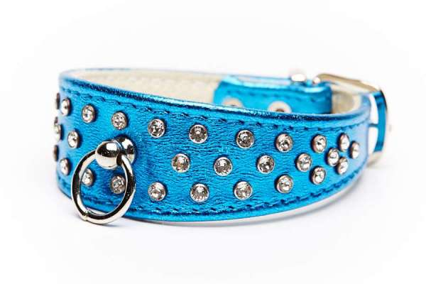 Hundehalsband 5th Avenue Blue Metallic