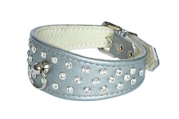 Hundehalsband 5th Avenue - Silver-Clear