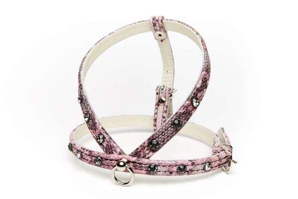 Hundegeschirr Shiny Petit - Pink Snake