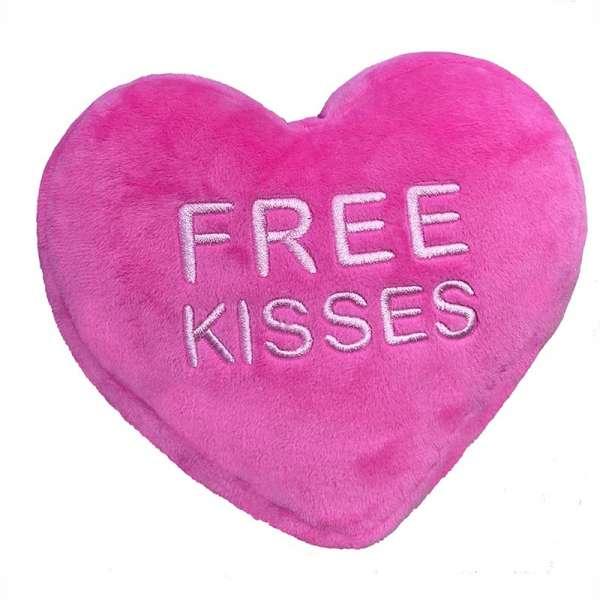 Hundespielzeug Free Kisses Heart