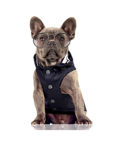 Hunde-Regenmantel Babord - Navyblau