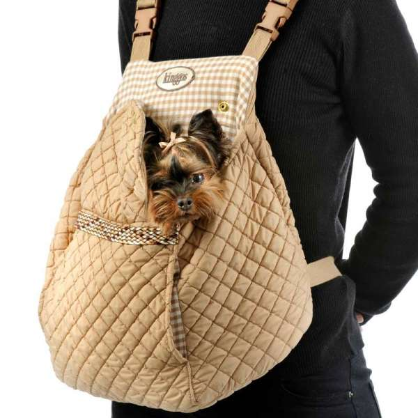 Hunderucksack Aurelia - Camel Quilt