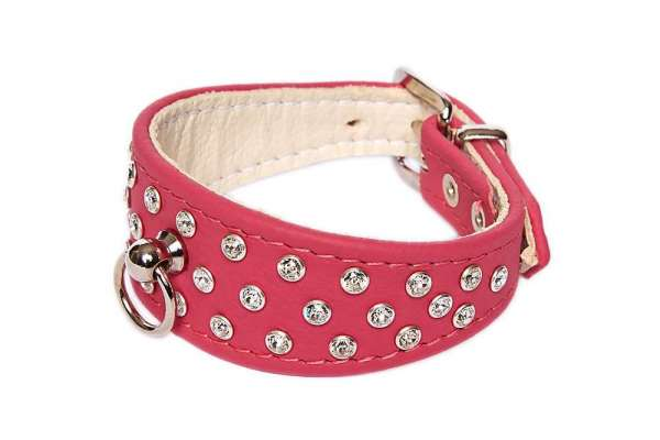 Strasshalsband 5th Avenue - Sporty Pink