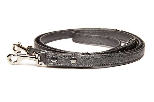 Verstellbare Hundeleine 230cmx20mm - Grau - Big Dogs