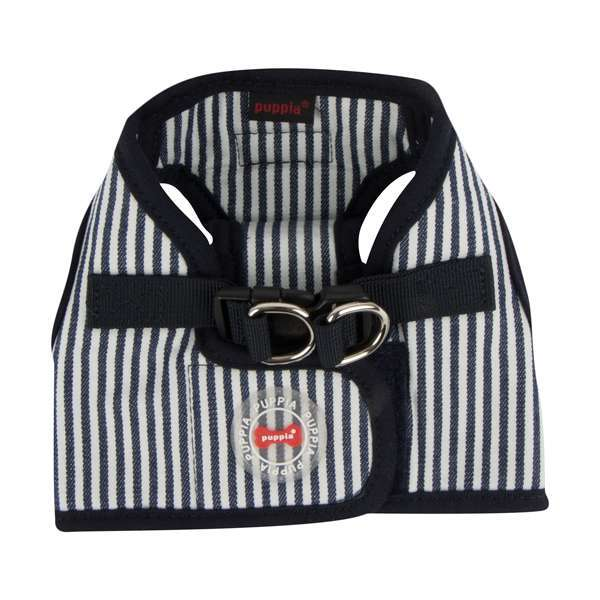 Puppia Step In Geschirr Bobby - Stripped Navy