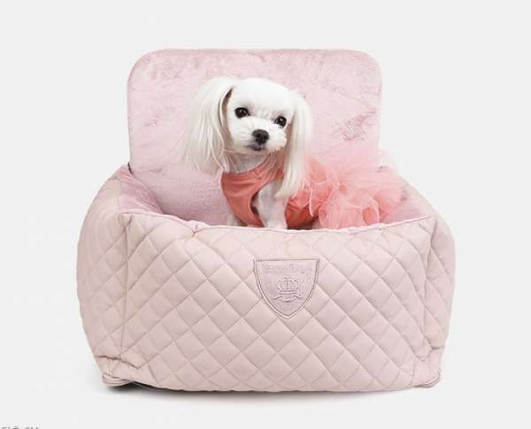 Luxus Autositz für Hunde Angione - Rosa