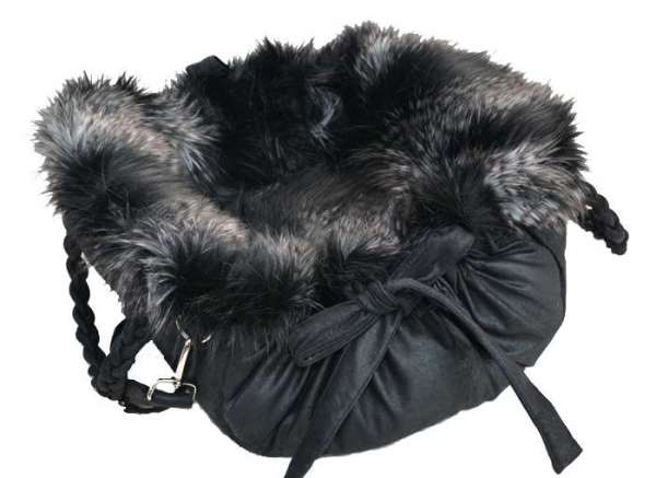 Designer Hundetasche Ampezzo Black - Black Fox
