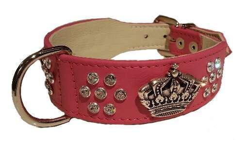 Hundehalsband Majestic Glam - Pink