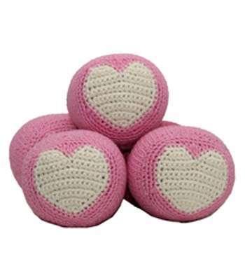 Spielball Rosa mit Herz